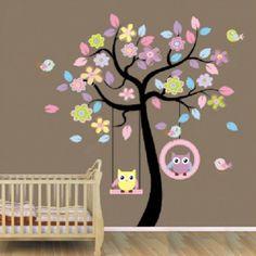 Ideal  Baum Wandtattoos Wandaufkleber F r Kinder Kinderzimmer Abziehbilder M dchen Wandaufkleber Kunst Vinylwand kunst Billige Aufkleber