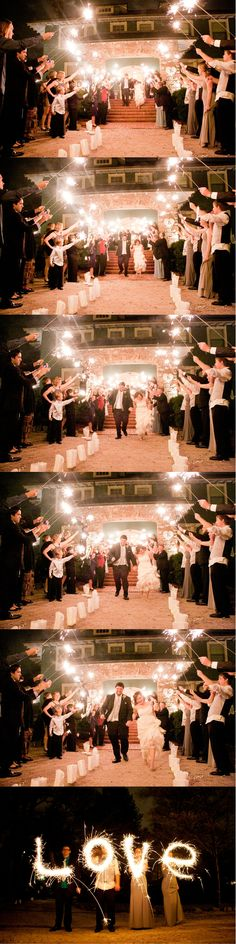 #wedding #exit #sparklers #love