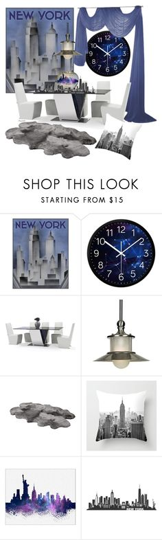 """New York  Home Set"" by ragnh-mjos ❤ liked on Polyvore featuring interior, interiors, interior design, home, home decor, interior decorating, Quoizel, UGG Australia, WALL and contest"