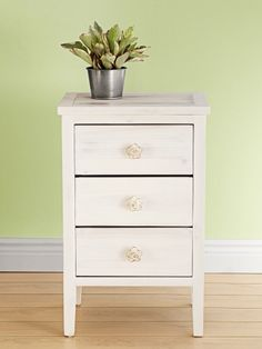 You can pull off this whitewashed furniture makeover in just a few easy steps