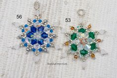 Elsa Ornament Bead Pack for your Choice of 2 Colorways, Tutorial by Deb Roberti Sold Separately, Ornament 56 or Ornament 53 Beaded Christmas Decorations, Felt Christmas Ornaments, Beaded Ornaments, Christmas Jewelry, Snowman Ornaments, Glass Ornaments, Christmas Crafts, Seed Bead Art, Seed Bead Bracelets