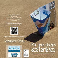 """Comença la campanya cendrers """"per unixes platges sostenibles"""" de la Diputació de València."""