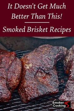 Try These Smoked Brisket Recipes And Be The Neighborhood Brisket King! Tne of these brisket recipes and enjoy some of the best tasting smoked brisket you've ever wrapped your lips around! Beef Brisket Recipes, Bbq Brisket, Smoked Beef Brisket, Smoked Meat Recipes, Pork Recipes, Best Smoked Brisket Recipe, Smoked Ribs, Game Recipes, Sausage Recipes