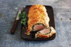 creamy spinach pork tenderloin wellingtons