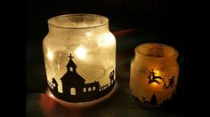 Lanterne effetto ghiaccio - neve,Christmas in a Jar | DIY Christmas Decorations & Gifts