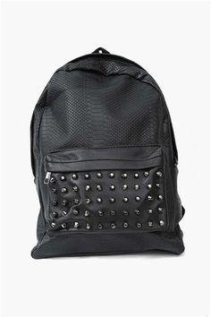 Slither Stud Back Pack in Black