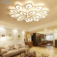 Lican Modern led ceiling Chandelier lights for living room ...