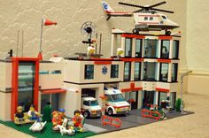 I've been meaning to finish building my cities hospital for a while and I finally got around to it. I used the latest police station and the helicopter resc...