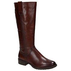 3c31b3b5694f Marco Tozzi 25571 Damen Leder Schuhe Langschaft Stiefel, Dunkelbraun,  Schuhgröße EUR 39  Amazon.de  Schuhe   Handtaschen