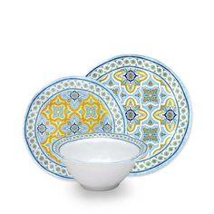 Fontainebleau 12pc Melamine Dinnerware Set  sc 1 st  Pinterest & Francesca 16-Piece Dinnerware Set   Dinnerware Rustic dinnerware ...