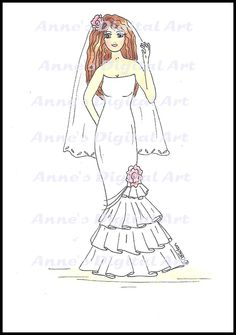Lily in a wedding dress