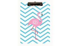 Personalized Clipboard Monogram Flamingo by LoveyDoveyCreations