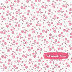 Sweet Things Pink and White Mini Cherries Yardage SKU# LH12157-PINK