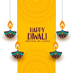Illustration about Creative happy diwali festival card with decorative diya vector. Illustration of hindu, happiness, creative - 159663302 Happy Choti Diwali Images, Happy Diwali Images Wallpapers, Happy Diwali Photos, Happy Diwali Wishes Images, Happy Diwali 2019, Happy Diwali Hd Wallpaper, Happy Diwali Cards, Diwali Greetings Images, Diwali Pictures