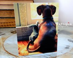 Dog+and+Bunny+Friends+Card+by+kalyxcraftopia+on+Etsy,+$3.00
