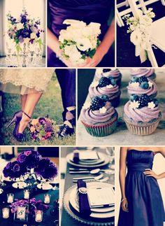 Purple and Grey Wedding Colours - My wedding ideas