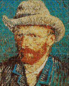 Counted Cross Stitch Pattern Vincent Van Gogh Autoritratto di LePCCdiMeri, €2.50