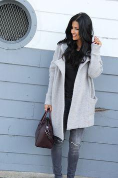grey oversized jacke