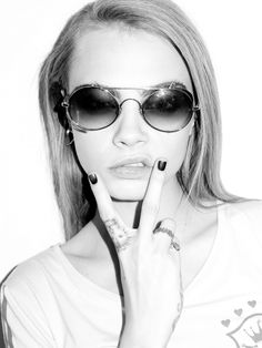 Cara Delevingne photographed by Terry Richardson.