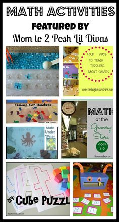 Mom to 2 Posh Lil Divas: Math Activities for Kids - The Sunday Showcase 5/12/13