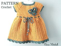 Items similar to Crochet Baby Dress - Crochet Clothes for Newborn - Crochet Dress - Newborn Dress - Baby Gift - Infant Clothes - Baby Shower Gift on Etsy Crochet Toddler Dress, Toddler Dress Patterns, Crochet Baby Dress Pattern, Newborn Crochet Patterns, Baby Girl Dress Patterns, Crochet Girls, Crochet Baby Clothes, Baby Patterns, Free Crochet