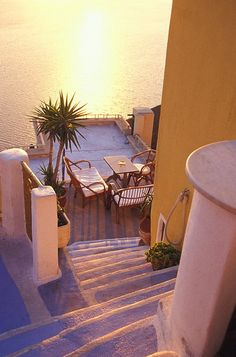 Cafe at Santorini_ Greece