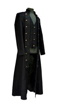 Long manteau gothique victorien homme PENTAGRAMME