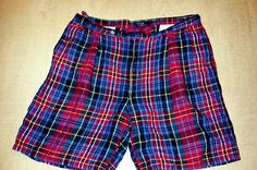 Polo-Ralph-Lauren-Classic-Plaid-Madras-Shorts-Made-in-USA-sz-40 SOLD