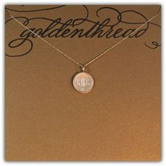 Golden Thread Personalized Custom Jewelry- So Mommies and Babies Can Accessorize Like A Global Style Icon/Fawn Over Baby