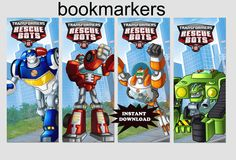 INSTANT Download Diy Printable Rescue Bots by sohappyshop on Etsy