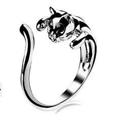 moda anéis de abertura do gato das mulheres de liga leve (prata) (1 pc) de 2016 por €1.95