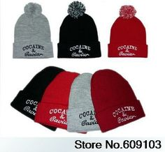 a65bd0be56a Cocain   Caviar Beanie Hat Hip-Hop wool winter Cotton knitted warm caps  Snapback hats