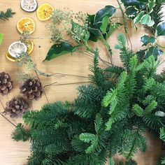 Prepping ready for Wreath School at @cusworthhall