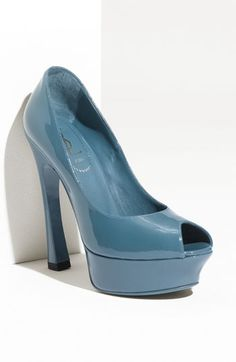 YSL Palais Platform Pump.  I love this color and shape of the heel.  I could do with a little less platform though...I'm too tall to wear shoes this high!