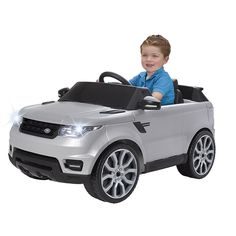 Tu peque conducirá a ritmo de música en el Range Rover 6V de Feber.