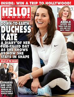 Catherine on the later Hello Canada issue March 7, 2016