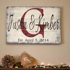 Personalized Sign Custom Name Sign Family Name Sign Pallet Sign Wedding Gift Bridal Shower Gift Distressed Wood Shabby Chic Housewarming Family Wood Signs, Family Name Signs, Family Names, Custom Wooden Signs, Wooden Diy, Wood Pallet Signs, Wood Pallets, Pallet Art, Diy Pallet