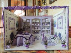 Roombox Lavender Boutique scale miniature 1:12 by BacettieCoccole