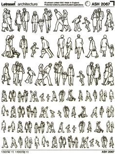 letraset Human Figure Sketches, Human Sketch, Figure Sketching, Figure Drawing, Croquis Architecture, Architecture People, Sketches Of People, Drawing People, Perspective Drawing