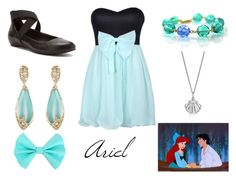 """""""Ariel"""" by danielleburton ❤ liked on Polyvore featuring Lee Renee, Kenneth Cole Reaction, Alexis Bittar, disney, thelittlemermaid, ariel and Disneyprincess"""