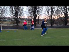 Field Hockey Goalie Fitness and Footwork Drill - YouTube
