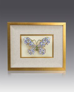 Single+Mille+Fiori+Butterfly+Wall+Decor+by+Jay+Strongwater+at+Neiman+Marcus.