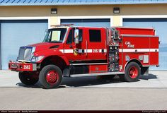 Rosenbauer Commercial Cab Pumper California Department of Forestry & Fire Protection Emergency Apparatus Fire Truck Photo