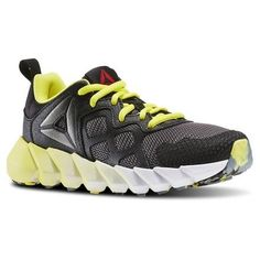 Reebok Unisex Exocage Athletic GR - Pre-School in Black / Ash Grey / Hero Yellow / White Size 13 - Running Shoes
