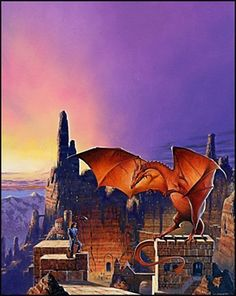 This was what Les made for the new Corgi cover of Dragonsinger, the second volume in the Harper Hall Trilogy.