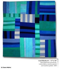 Diane Melms is a contemporary art quilter living in Anchorage, Alaska and she designs and creates the most amazing quilts I have ever seen....