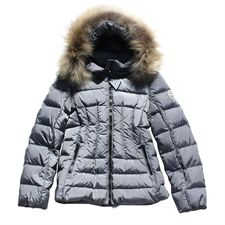 Moncler Girls Grey Thiphanie Down Coat