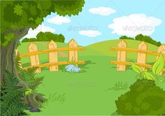 Buy Idyllic Landscape by Dazdraperma on GraphicRiver. Illustration of rural idyllic landscape. Kids Background, Background Clipart, Cartoon Background, Landscape Background, Islamic Cartoon, Exploration, Country Landscaping, Frame Clipart, Free Graphics