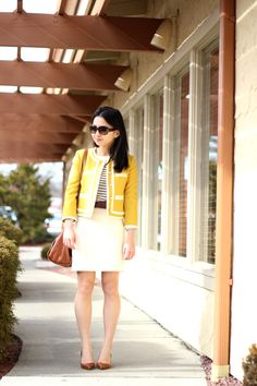 Fast Food & Fast Fashion | a personal style blog: Yellow Jacket and Nautical Stripes