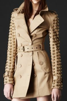 Burberry studded trench coat